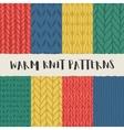 set 8 decorative knit seamless patterns vector image