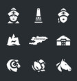 set of nomad icons vector image vector image