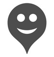 smile map marker flat icon vector image