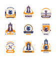 space exploration adventure project icons vector image vector image