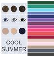 Stock seasonal color analysis palette vector image
