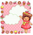 sweet collection vector image vector image