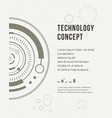 technology report flyer design template brochure vector image vector image