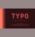 typography retro classic stylish pastel color vector image vector image