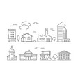 urban buildings icon houses living rooms villa vector image vector image