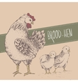 Vintage design with chickens Happy Mothers day vector image vector image