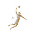 volleyball athlete in action sport symbol vector image
