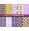 Arabian seamless pattern background set vector image