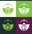 green lotus abstract logo vector image