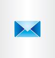 blue letter envelope mail symbol vector image