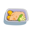 chicken lunch vector image