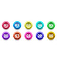 3d numbers bullet point circle buttons with vector image vector image