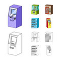 a game machine a ticket sales terminal an vector image vector image