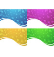 Abstract transparent backgrounds collection vector image vector image