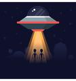Aliens Farm Visit vector image