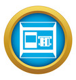 atm icon blue isolated vector image vector image