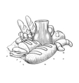 Bakery products still life vector image vector image