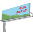 billboard template vector image