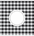 Black checkered background vector image vector image