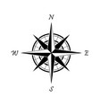 black compass icon on a white background vector image vector image