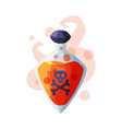 bottle potion with skull and bones occult vector image