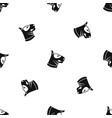 bull terrier dog pattern seamless black vector image vector image