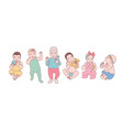 bundle of cute newborn babies or small children vector image