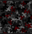 camouflage seamless pattern with hexagonal vector image vector image