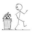 cartoon surprised man or businessman walking vector image vector image