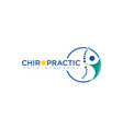 chiropractic physiotherapy concept logo design vector image vector image