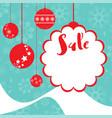 christmas card template vector image