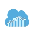 cloud computing with seo icon vector image vector image