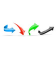 colored arrows 3d web icons vector image vector image