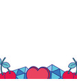colorful cute fashion patches background vector image