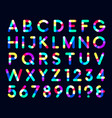 colorful overlays font only dark background vector image vector image