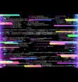 computer glitch program bug or error background vector image