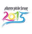 creative happy new year 2015 sketch design vector image