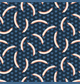 cute sausages seamless pattern vector image vector image