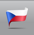 czech flag map pointer layout vector image