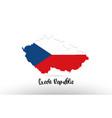 czech republic country flag inside map contour vector image