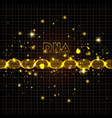 dna molecule on line golden pattern vector image vector image