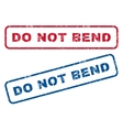 Do Not Bend Rubber Stamps vector image vector image
