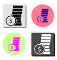 dollar coins flat icon vector image