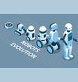 evolution robots isometric vector image