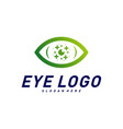 eyes with icons health logo design concept vector image