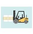 Forklift bale clamp vector image