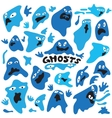 ghosts cartoons vector image vector image