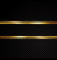 golden line banner isolated on black vector image vector image
