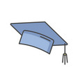 graduation cap rgb color icon vector image vector image