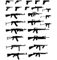 gun collection vector image vector image